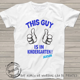 1st Day of Kindergarten shirt, first day of school t-shirt for kids, personalized shirts for boys or girls, any grade can be printed