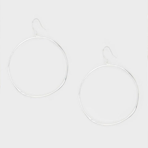G Ring Earrings silver