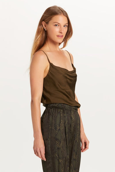 Satin cowl neck camisole top