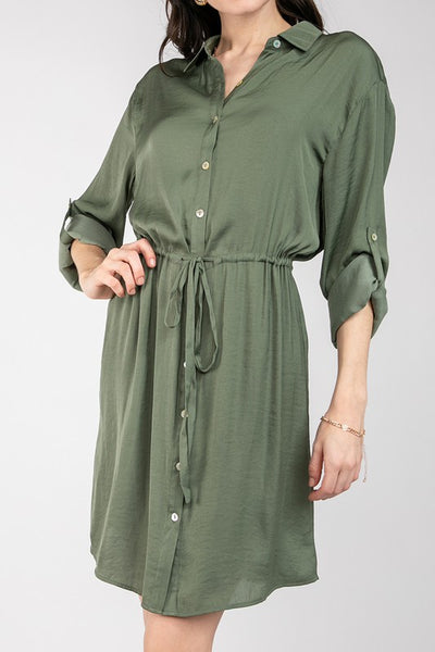 Long sleeve shirt dress
