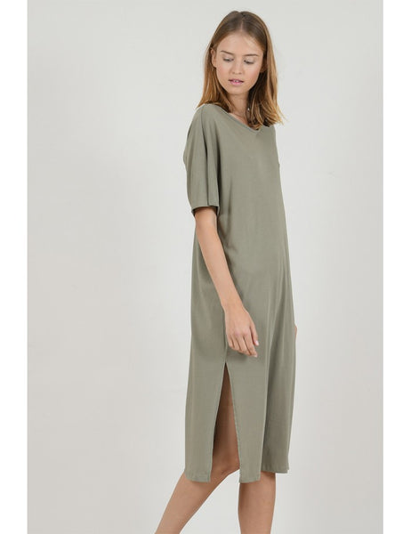 Jersey long dress with back detail