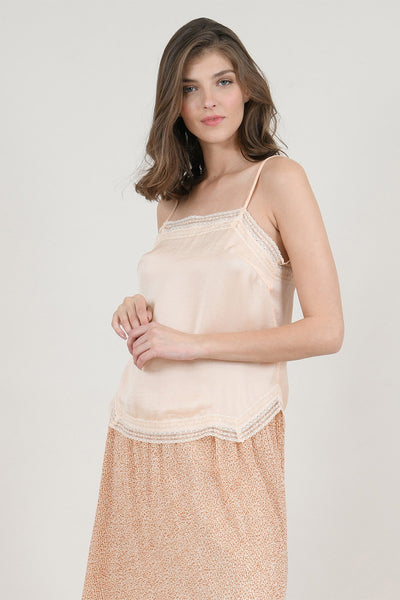 Camisole with guipure