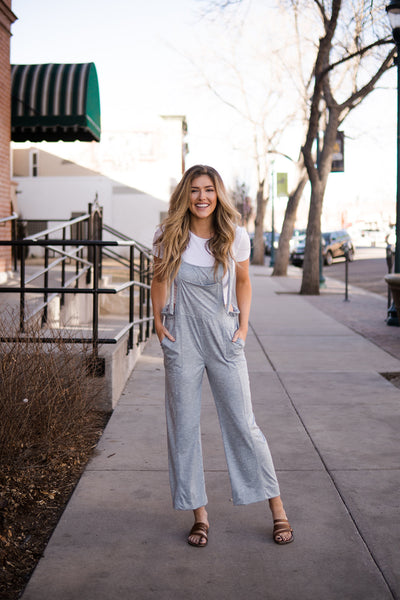 Space dye overall jumpsuit