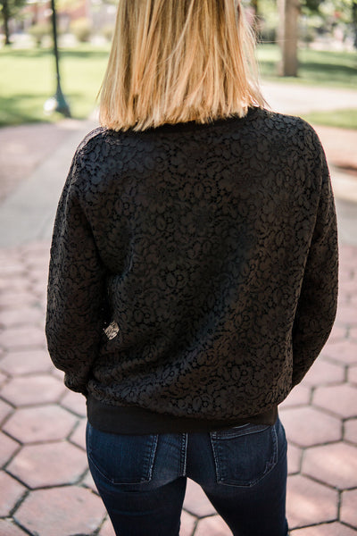 Lace pullover top