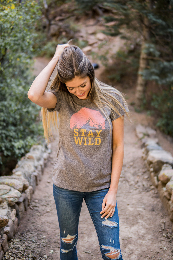 """Stay wild"" graphic tee"