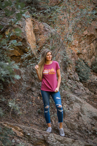 """Take a hike"" graphic tee"