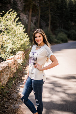 """My heart is in the mountains"" graphic tee"