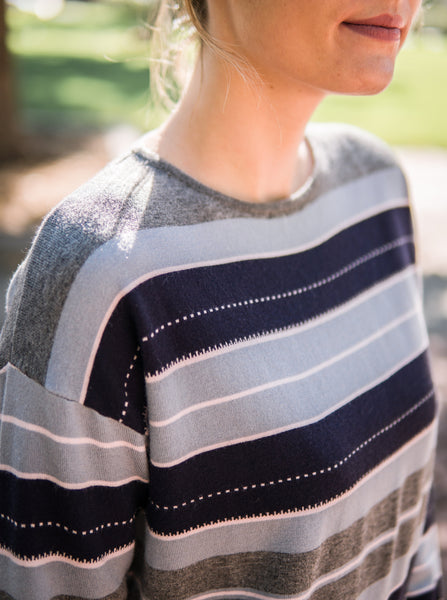 Striped knit sweater (M/L only)