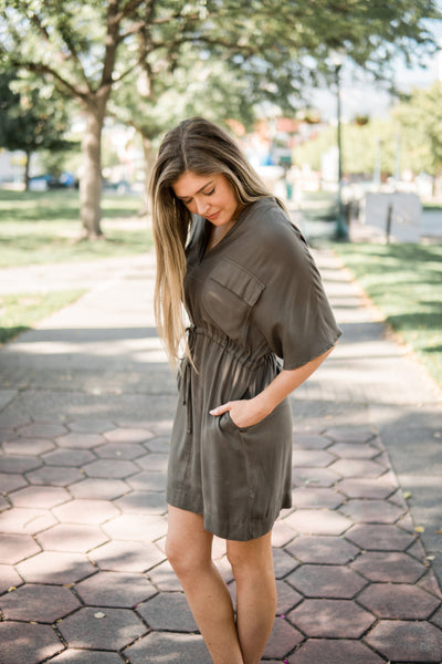 Pocket front dress