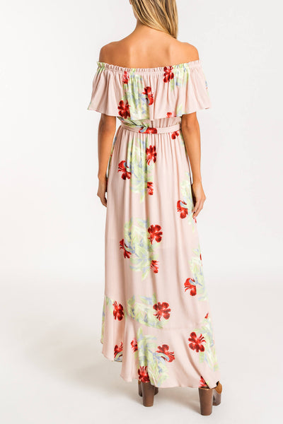 Floral off the shoulder maxi