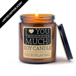 """I love you this much"" candle"