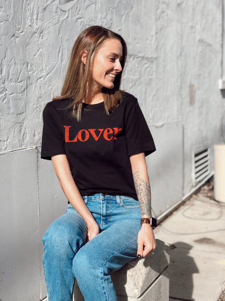 """Lover"" graphic tee"