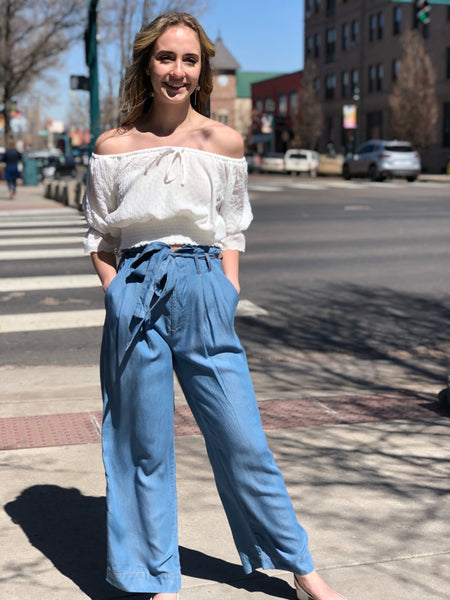 Denim trouser pant