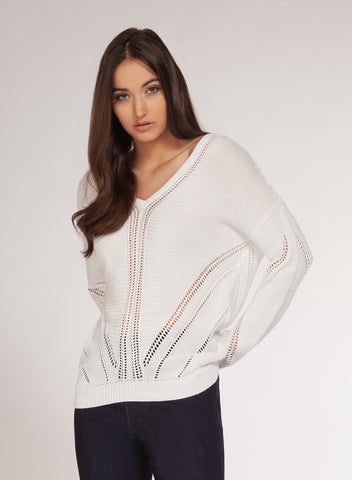 Pullover sweater with back detail