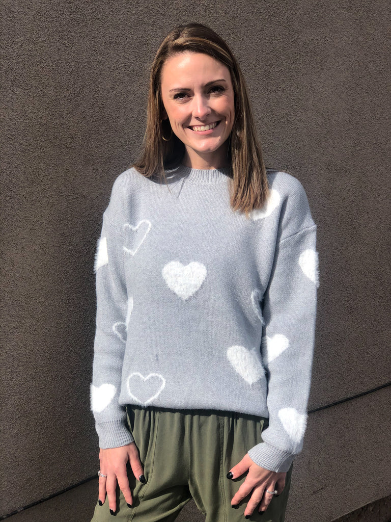Sweetheart pullover sweater