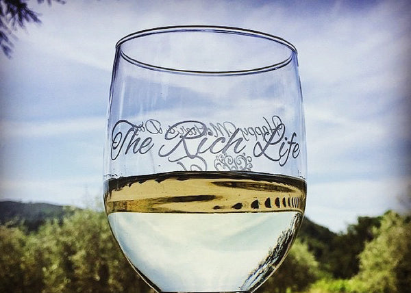 Engraved wine glass by EngraveMeThis