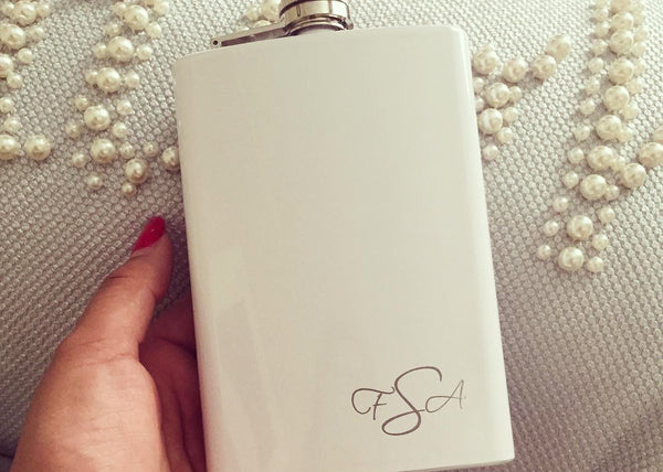 Monogrammed hip flask by EngraveMeThis