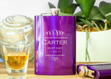 Hip Flask in Royal Purple-personalized stainless steel hip flask-EngraveMeThis