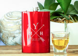 Metallic Red Hip Flask-personalized stainless steel hip flask-EngraveMeThis