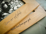 Wood Picture Frame for 5x7 Photo-personalized picture frame-EngraveMeThis