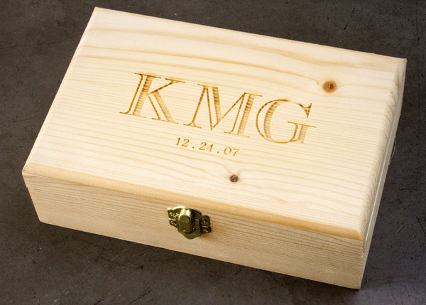 Pine Keepsake Box-personalized wood box-EngraveMeThis