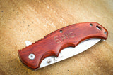 Elk Ridge Paccawood Folding Knife-Personalized pocket knife-EngraveMeThis