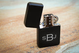 Matte Black Flip Lighter-engraved cigar lighter-EngraveMeThis