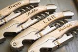 Double Hinged Waiter's Corkscrew - Light-personalized bottle opener-EngraveMeThis