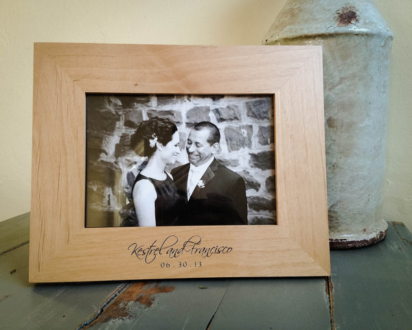 Personalized 5x7 Wood Picture Frame From Engravemethis