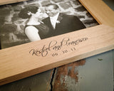 Alder Picture Frame for 8x10 Photo-personalized picture frame-EngraveMeThis