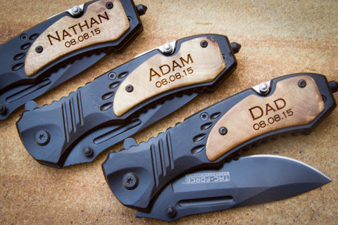 MTech Tech Force Folding Rescue Knife-Personalized pocket knife-EngraveMeThis