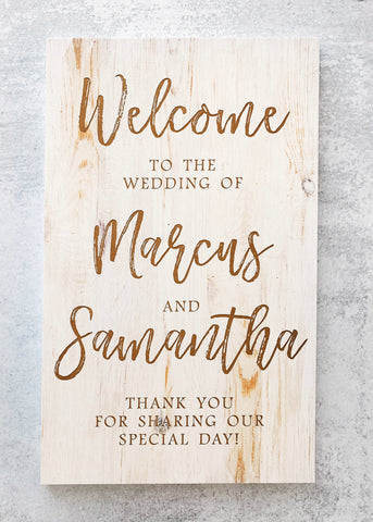 Wedding sign | Baby room sign | Family Welcome Sign | Personalized Name Sign | Custom Wall Sign | Engraved Home Art