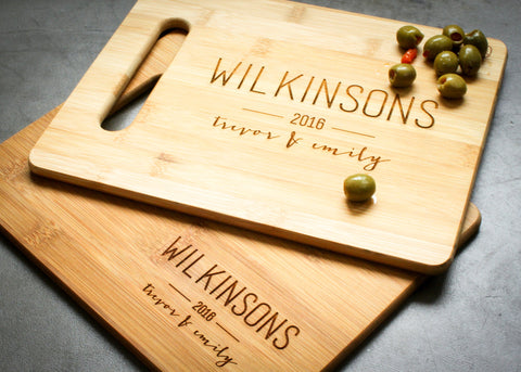 Bamboo Cheese Board-personalized cutting board-EngraveMeThis