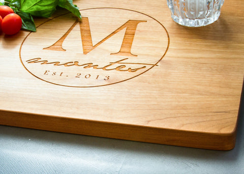 Solid Cherry Cutting Board-Personalized Cutting Board-EngraveMeThis