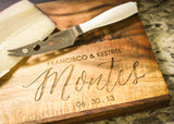 Rustic Acacia & Slate Cutting Board-Personalized Cutting Board-EngraveMeThis