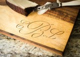 Modern Rustic Acacia & Slate Cutting Board-Personalized Cutting Board-EngraveMeThis