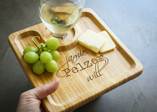 Wine Glass Holders- Set of 2-Personalized Cutting Board-EngraveMeThis