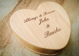 Wood Heart Box-personalized wood box-EngraveMeThis