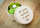 Ring Ceremony Box-personalized wedding ring box-EngraveMeThis