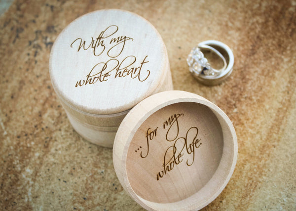 Engagement Ring Box-personalized wedding ring box-EngraveMeThis