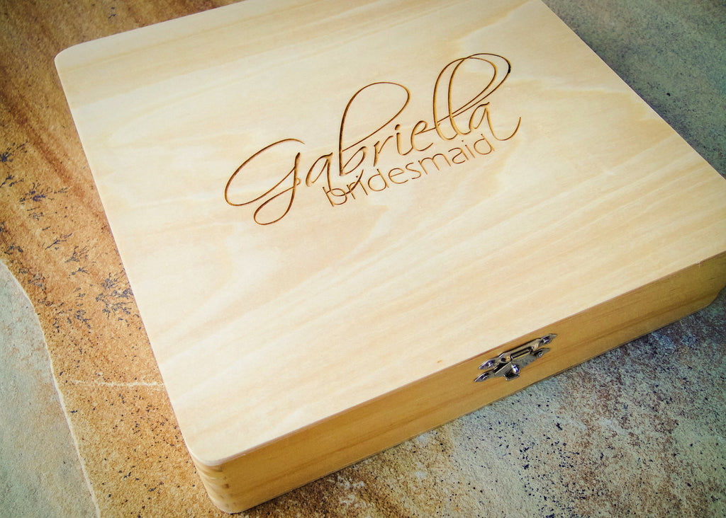 Personalized Wedding Letter Box From Engravemethis