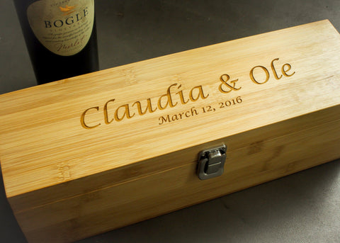Wine Accessory Box-personalized wine box-EngraveMeThis