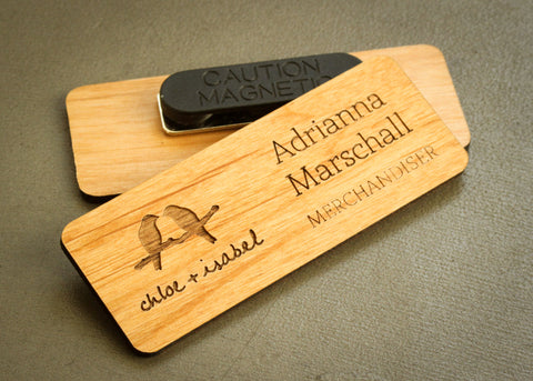 Alder Name Tag-engraved name badge-EngraveMeThis