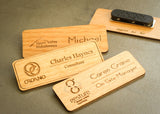 Wood Name Tag-engraved name badge-EngraveMeThis