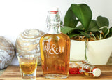 Glass Hip Flask-personalized glass whiskey flask-EngraveMeThis