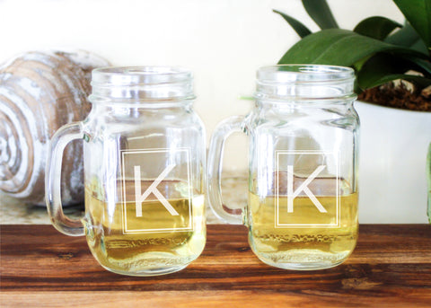 Drinking Jar Glasses-personalized mason jar glasses-EngraveMeThis