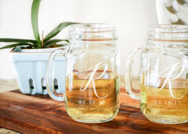 Mason Jar Glasses-personalized mason jar glasses-EngraveMeThis
