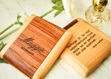 Rosewood & Maple Pocket Mirror-Personalized compact mirror-EngraveMeThis