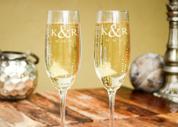 Champange Glasses-personalized champagne glasses-EngraveMeThis