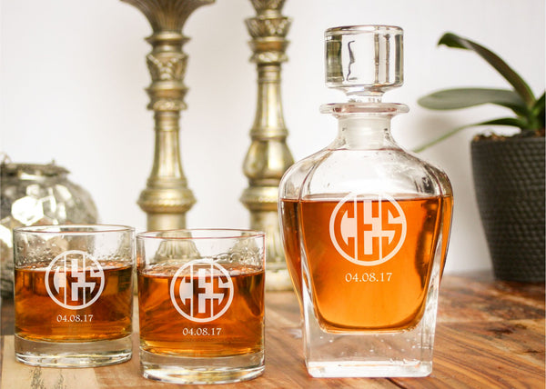 Whiskey Decanter-personalized whiskey decanter-EngraveMeThis